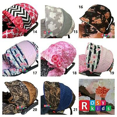baby girl boy infant car seat replacement canopy hood visor cover ONLY fits all