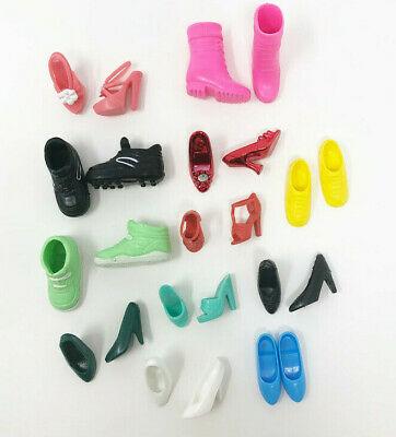 Barbie Doll Shoes 12 Pairs Heels Boots Flats Tennis Shoes Mixed Lot 4