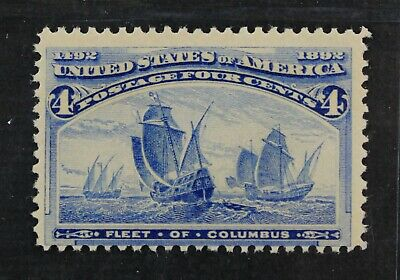 CKStamps: US Stamps Collection Scott#233 4c Columbian Mint NH OG CV$160