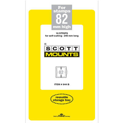Scott/Prinz Pre-Cut Strips 240mm Long Stamp Mounts 240x82 #944 Black