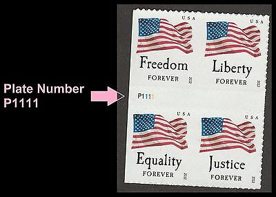 US 4709a Four Flags forever plate block set (4 stamps from ATM BK18) MNH 2012