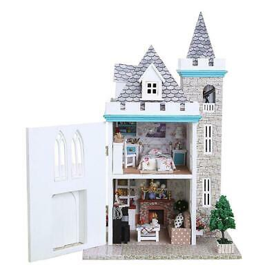 DIY Doll House Miniature Kit Moonlight Castle Architecture Dollhouse Toy Gift