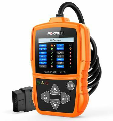 FOXWELL Orange NT201 Auto OBD2 Scanner Check Car Engine Light Fault Code Reader