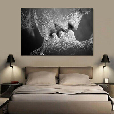 Love Kiss Picture Bedroom Wall Romantic Painting Wall Print Picture Canvas Decor