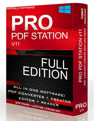 PRO PDF Editor Creator Converter edit OCR merge Software Instant Delivery