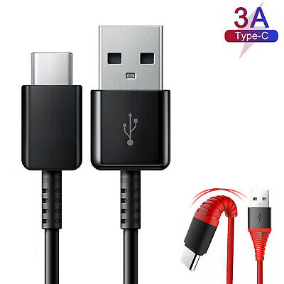Fast USB-C Type C Charging Sync Cord Charger Cable For Samsung Galaxy S10 Black
