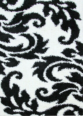 New Piccolo Spring Black White Shag Rug Network Rugs
