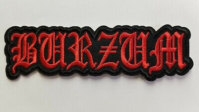 1burzum red logo   embroidered  IRON ON , OR SEW  PATCH
