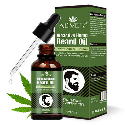 ALIVER Hemp Seed Oil Beard & Hair Growth Softer Organic 100% Natural 30ml