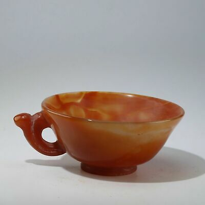 Chinese Exquisite agate Bowl height 3.6cm