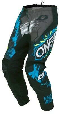 ONeal Element Youth Pants Villain Kinder Crosshose Enduro grau schwarz blau