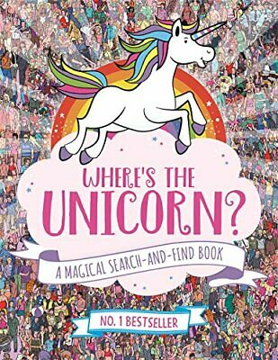(Very Good)-Where's the Unicorn?: A Magical Search-and-Find Book (Paperback)-Sch