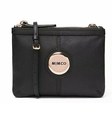 Mimco MIM COUCH BAG BLACK ROSE GOLD Shoulder Bag Authentic New with tag RRP199