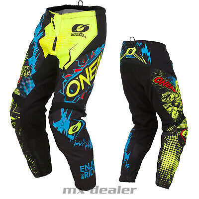 2020 O'Neal Element Villain Neongelb  Hose  mx motocross Enduro Quad Crosshose