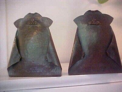 Antique ARTS & CRAFTS Bookends Hand hammered Copper Old Mission California