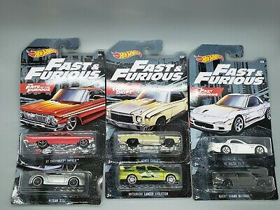 New 2019 Hot Wheels Fast and the Furious Lot Walmart Exclusive Set of 6 Cars