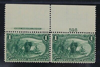 CKStamps: US Stamps Collection Scott#285 1c Mint NH OG Pair
