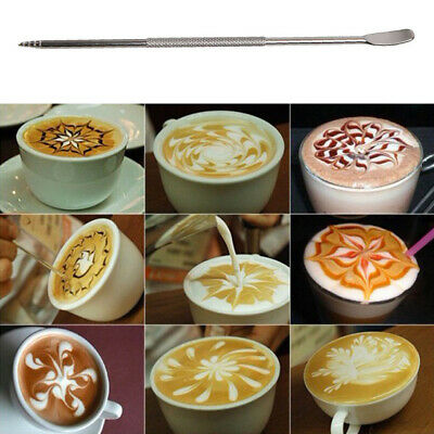 Stailless Steel High-end Coffee Art Pens Home Tool Cafe Latte Art Pen