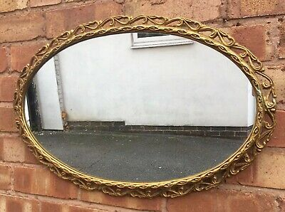 Large French Gold Gilt Rococo Baroque Style Mirror