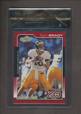 2000 Score #216 Tom Brady New England Patriots RC Rookie BGS 8.5 RCR