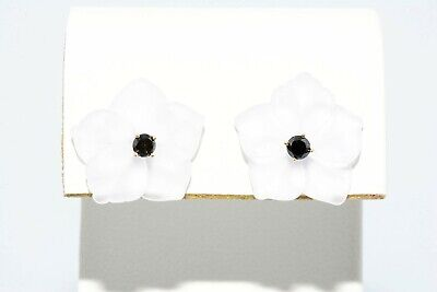 6.67Ct Black Diamond Studs W/ 1 Pair Of Gemstone Jackets 14K Yellow Gold