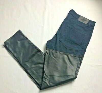 Bcb Generation Women's Stretch Half Faux Leather Pleather  Skinny Pants Size 29