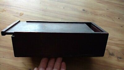 Old Antique Vintage Primitive Dove Tailed Box With Sliding Lid