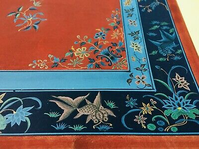 9 Pages Antique Oriental Chinese Painting for Embroidery or Rugs with Dragons