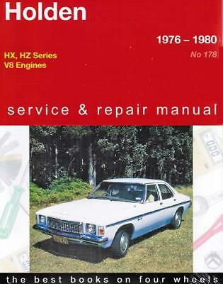 Holden HX / HZ (8 cyl) 1976 - 1980 Gregorys Owners Service & Repair Manual