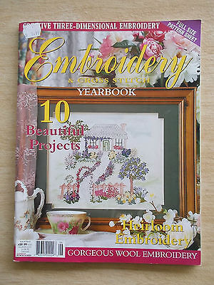 Embroidery & Cross Stitch Vol 10 #6~Cottage~Hedgehog~Beaded Bag~Dragonfly~Bear