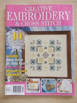Embroidery & Cross Stitch Vol 20 #2~Circus Pony~Hardanger~White Roses~Ribbon...