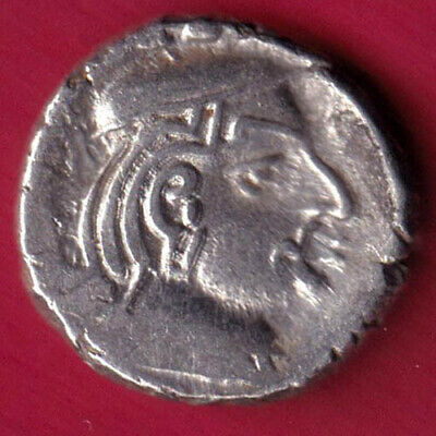 Ancient India - Kshatrap Dynasty - Kings Portrait - Rare Silver Coin #V24