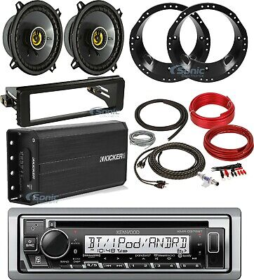 "Install Adapter Kit, Kicker 6.5""Adapter Set,Amp, receiver & Kit for Harley 98-13"