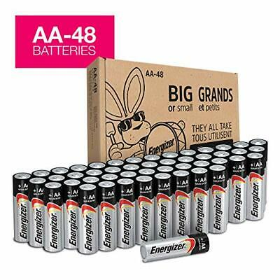 Energizer AA Batteries (48Count), Double A Max Alkaline Battery - Packaging