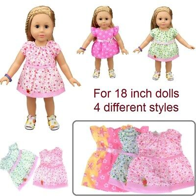 Cute doll dress clothes suitable for 18 inch 43 cm baby born Zapf doll UK