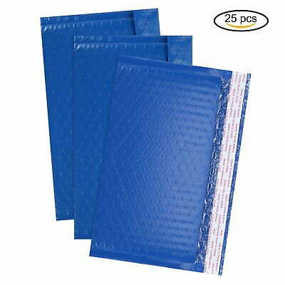 25Pcs Any Size Poly Bubble Mailers Shipping Mailing Padded Bags Envelopes Color
