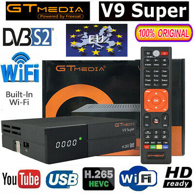 GTMedia V9 Super Satellite TV Receiver Bult-in WiFi DVB-S2 HD PVR SAT Decoder EU