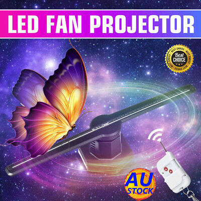 3D 224 LED WiFi Holographic Hologram Fan Projector Display Advertising +SD Card