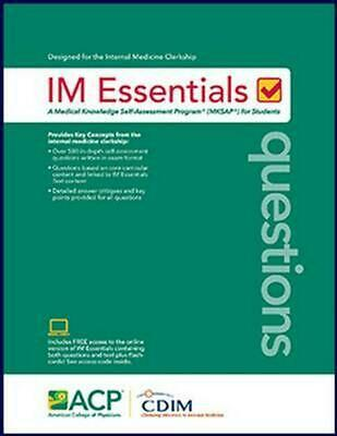 Im Essentials Questions by American College Of Physicians Paperback Book Free Sh