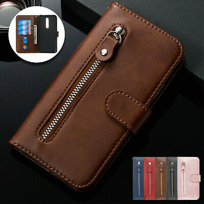 For Xiaomi K20 Redmi Note 7 Pro Case Zipper Leather Wallet Stand Magnetic Cover