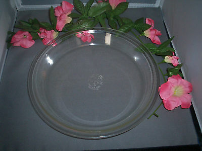 Set of 2 Vintage DEEP DISH Clear Pyrex 10 inch Pie Plates 210 Pies Tarts USA