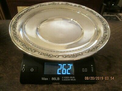 """Vintage Gorham Sterling Silver 10"""" Dish Plate For Scrap Or Not 262 Grams"""