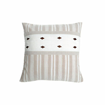 The seat cushion cover 100% cotton canvas tool with pattern of stripes - 547061