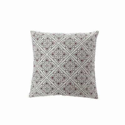 Cushion cover with zipper stamped tile 100% cotton - 547005
