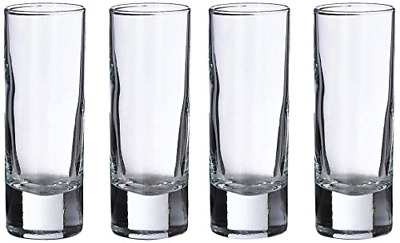 4 Inch Tall Shot Glasses Clear  2.25 Oz Set of 4