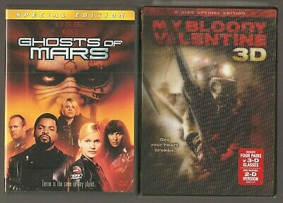 GHOSTS OF MARS Columbia Tristar Home Video MY BLOODY VALENTINE 3D Lionsgate DVDs