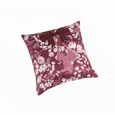 Cushion cover with satin fabric and flowers printed with zippers - 009466