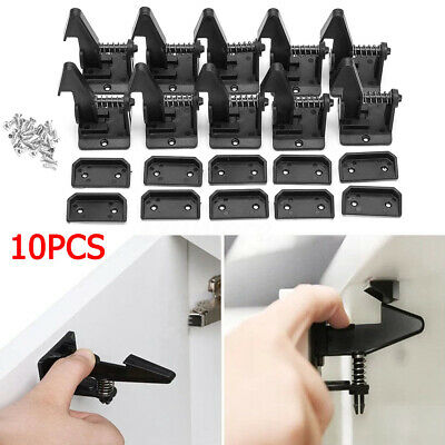 10PCS Invisible Child Baby Safety Locks Adhesive Cabinet Drawer Cupboard