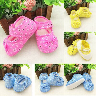 High quality Casual Toddler Baby Floral Bow Anti-slip Soft Infant Girls Shoes