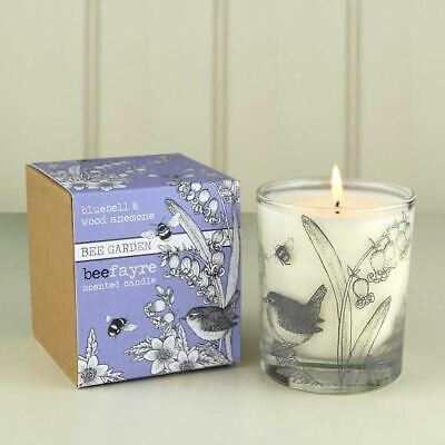 Beefayre Bee Garden - Bluebell & Wood Anemone - Scented Candle - 200g/50hours